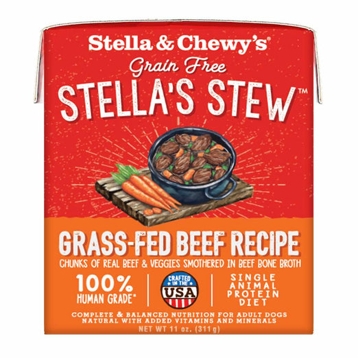 Stella & Chewy's Stella's Stew Grass-Fed Beef Grain-Free Adult Wet Dog Food 11oz - Kohepets
