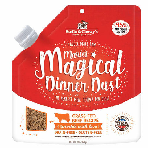 Stella & Chewy's Marie's Magical Dinner Dust Beef Grain Free Freeze-Dried Raw Dog Food 7oz - Kohepets