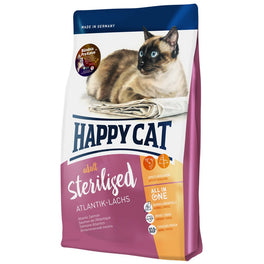 Happy Cat Sterilised Atlantik Lachs Atlantic Salmon Adult Dry Cat Food