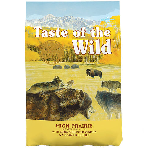 '50% OFF or FREE TREATS': Taste Of The Wild High Prairie Bison & Venison Grain-Free Dry Dog Food - Kohepets
