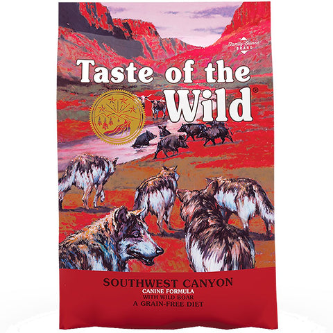 'FREE TRAY FOOD': Taste Of The Wild Southwest Canyon Wild Boar Grain-Free Dry Dog Food