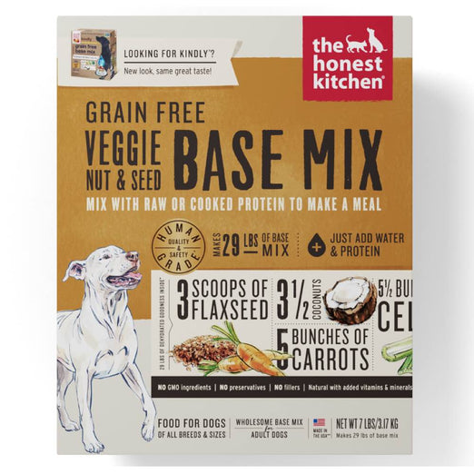 '15% OFF + FREE SUPERFOOD' (Exp 3 Apr)': The Honest Kitchen Kindly Grain Free Veggie, Nut & Seed Base Mix Dehydrated Dog Food - Kohepets