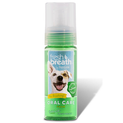 Tropiclean Fresh Breath Oral Care Foam 4.5oz - Kohepets