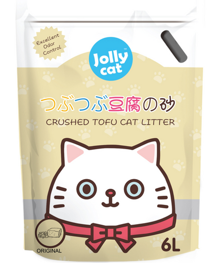 10% OFF: Jollycat Crushed Tofu Original Cat Litter 6L - Kohepets