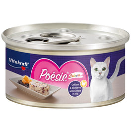 Vitakraft Poesie Colours Chicken & Riceberry with Cheese in Jelly Canned Cat Food 70g