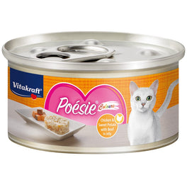 Vitakraft Poesie Colours Chicken & Sweet Potato with Beef in Jelly Grain-Free Canned Cat Food 70g