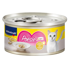 Vitakraft Poesie Colours Chicken & Sweetcorn with Seabream in Gravy Canned Cat Food 70g