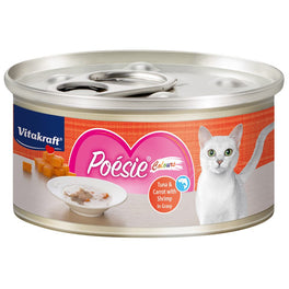 Vitakraft Poesie Colours Tuna & Carrot with Shrimp in Gravy Grain-Free Canned Cat Food 70g