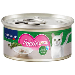 Vitakraft Poesie Colours Tuna & Green Pea in Gravy Grain-Free Canned Cat Food 70g