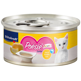 Vitakraft Poesie Colours Tuna & Pumpkin Paste Junior Grain-Free Canned Cat Food 70g