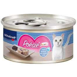 Vitakraft Poesie Colours Tuna & Riceberry with Salmon in Jelly Canned Cat Food 70g