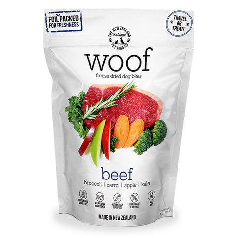 40% OFF: WOOF Beef Freeze Dried Dog Bites Treats - Kohepets