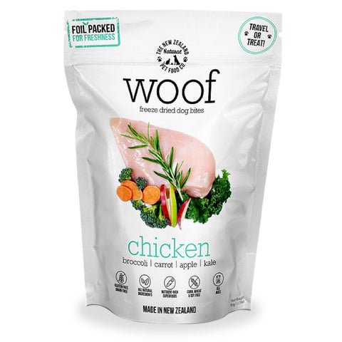 'BUNDLE DEAL': WOOF Chicken Freeze Dried Dog Bites Treats - Kohepets