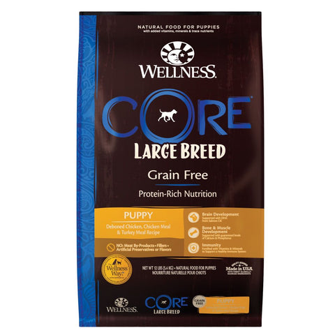 Wellness CORE Grain Free Large Breed Puppy Formula Dry Dog Food 24lb - Kohepets