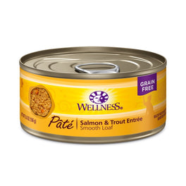 Wellness Salmon & Trout Pate Canned Cat Food 155g