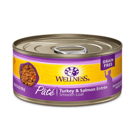 Wellness Turkey & Salmon Pate Canned Cat Food 155g