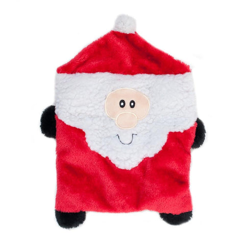 ZippyPaws Christmas Squarez Santa Dog Toy