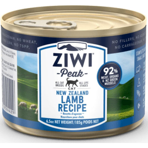 ZiwiPeak Lamb Grain Free Canned Cat Food 185g - Kohepets
