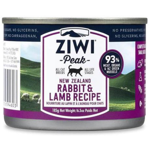 ZiwiPeak Rabbit & Lamb Canned Cat Food 185g - Kohepets