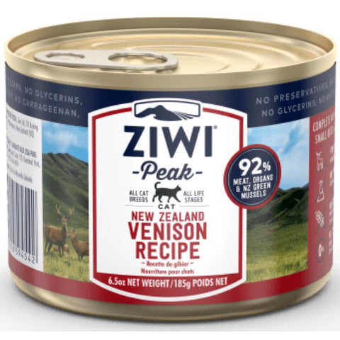 ZiwiPeak Venison Grain Free Canned Cat Food 185g - Kohepets