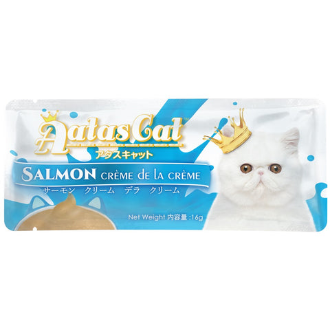 Aatas Cat Creme De La Creme Salmon Liquid Cat Treat 16g - Kohepets