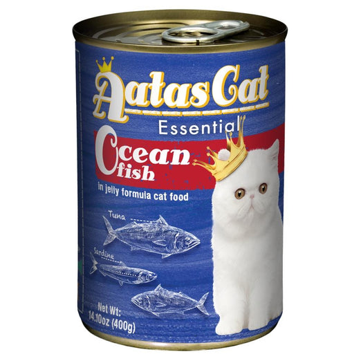 Aatas Cat Essential Ocean Fish in Jelly Canned Cat Food 400g