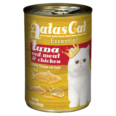 Aatas Cat Essential Tuna Red Meat & Chicken in Jelly Canned Cat Food 400g - Kohepets