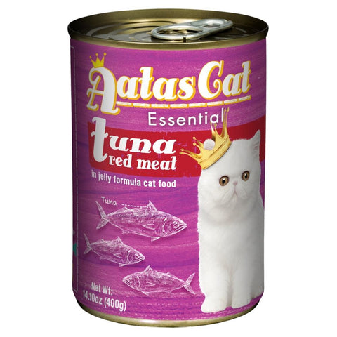 Aatas Cat Essential Tuna Red Meat in Jelly Canned Cat Food 400g - Kohepets