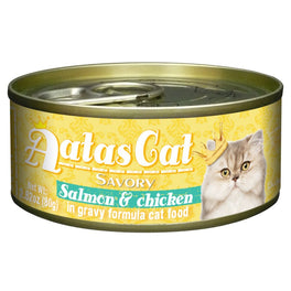 Aatas Cat Savory Salmon & Chicken in Gravy Canned Cat Food 80g