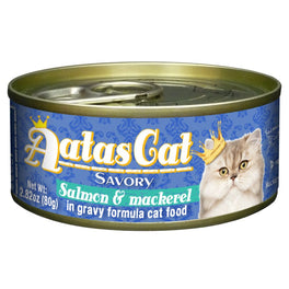 Aatas Cat Savory Salmon & Mackerel in Gravy Canned Cat Food 80g