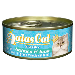 UP TO 22% OFF: Aatas Cat Savory Salmon & Tuna in Gravy Canned Cat Food 80g