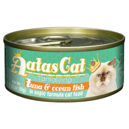 Aatas Cat Tantalizing Tuna & Ocean Fish In Aspic Canned Cat Food 80g