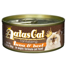 Aatas Cat Tantalizing Tuna & Beef in Aspic Canned Cat Food 80g