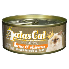 Aatas Cat Tantalizing Tuna & Shirasu in Aspic Canned Cat Food 80g