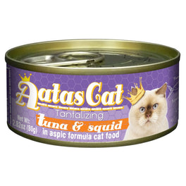 Aatas Cat Tantalizing Tuna & Squid in Aspic Canned Cat Food 80g