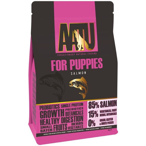 50% OFF 1.5kg: AATU For Puppies Salmon Grain Free Dry Dog Food (Exp 6 Jul 19)