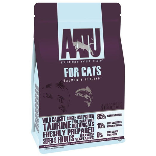 AATU Salmon & Herring Grain Free Dry Cat Food
