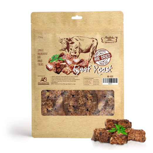 31% OFF: Absolute Bites Air Dried Beef Roast Dog Treats 250g