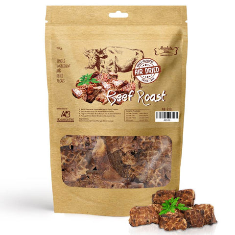 2 FOR $18.80: Absolute Bites Air Dried Beef Roast Dog Treats 90g - Kohepets