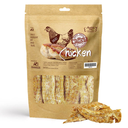 33% OFF: Absolute Bites Air Dried Chicken Breast Dog Treats 170g - Kohepets