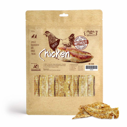$11 OFF: Absolute Bites Air Dried Chicken Breast Dog Treats 500g - Kohepets