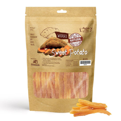 33% OFF: Absolute Bites Air Dried Sweet Potato Wedges Dog Treats 300g