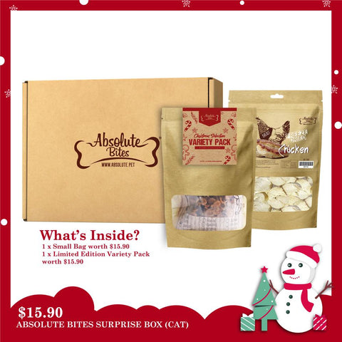 'SAVE $15.90': Absolute Bites Cat Treats Christmas Surprise Box - Kohepets