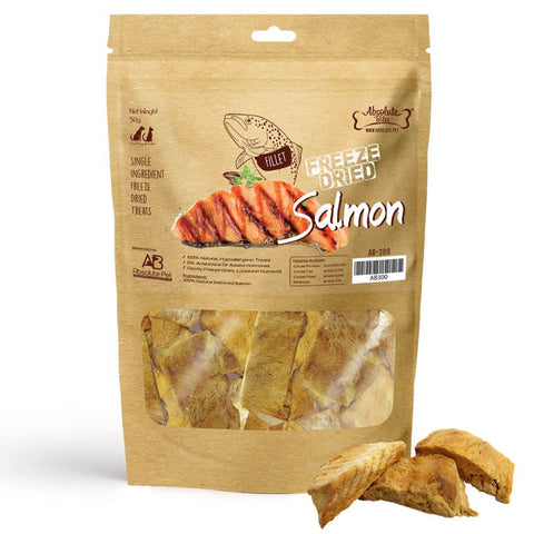 33% OFF: Absolute Bites Freeze Dried Salmon Dog & Cat Treat 50g - Kohepets
