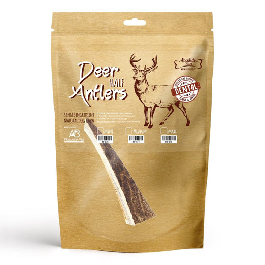 Absolute Bites Half Deer Antler Dental Dog Chew