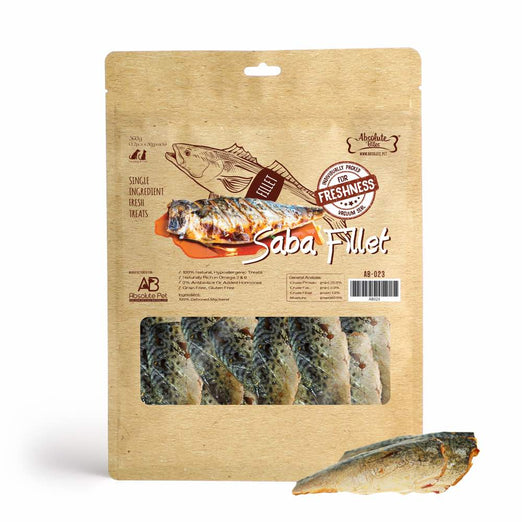 Absolute Bites Saba Fillet Fresh Dog & Cat Treats 360g