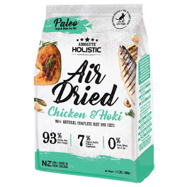$6 OFF: Absolute Holistic Chicken & Hoki Air Dried Grain-Free Cat Food 500g