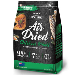 $20 OFF & FREE TREATS: Absolute Holistic Air Dried Chicken & Hoki Dog Food 1kg