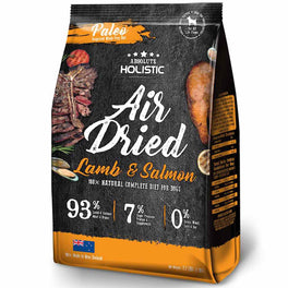 $20 OFF & FREE TREATS: Absolute Holistic Air Dried Lamb & Salmon Dog Food 1kg