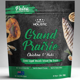 $5 OFF: Absolute Holistic Air Dried Chicken & Hoki Dog Treats 100g